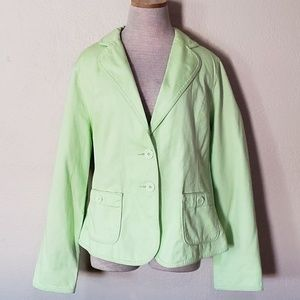 Torrid lime green blazer jacket 1